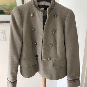 Grey-Taupe Military Zara Jacket